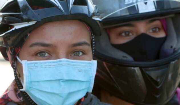 Uso de tapabocas / Coronavirus en Bogotá / Tapabocas de tela