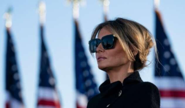 Melania Trump en su último día como primera dama de Estados Unidos.