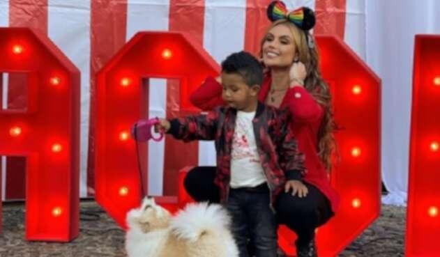 Sara Uribe en el cumpleaños de Jacobo