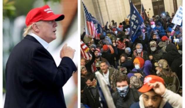 Donald Trump acusado de incitar el asalto al Capitolio de EE.UU.