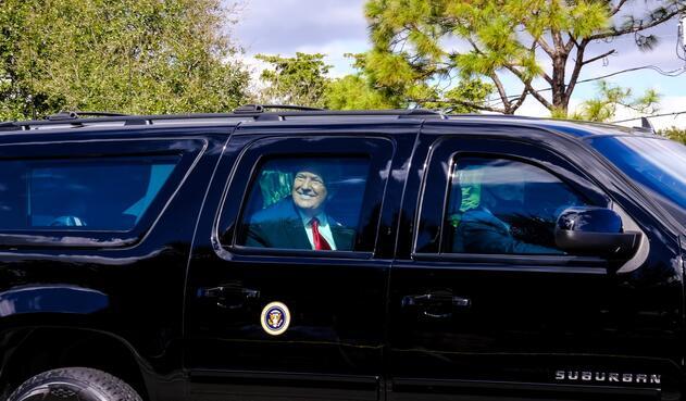 Donald Trump al llegar a Florida y no asistir a posesión de Joe Biden