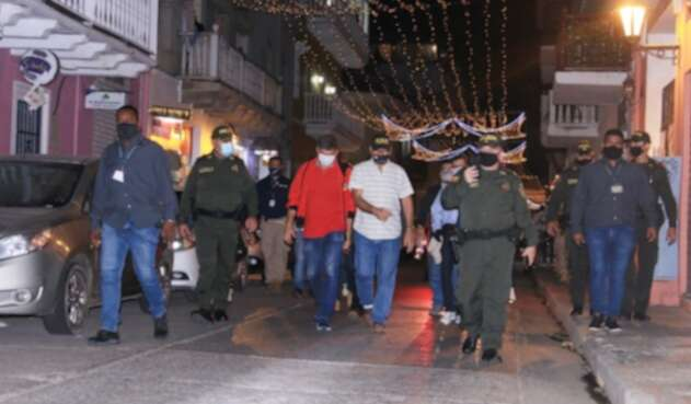 ¿Cómo estuvo el Centro Histórico de Cartagena durante la celebración de fin de año?