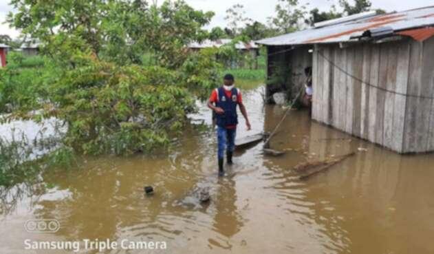 Inundaciones en El Carmen del Darién.