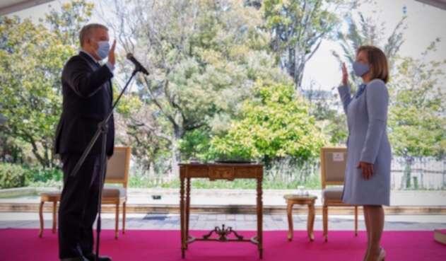 Margarita Cabello se posesionó como procuradora general, ante el presidente Iván Duque.