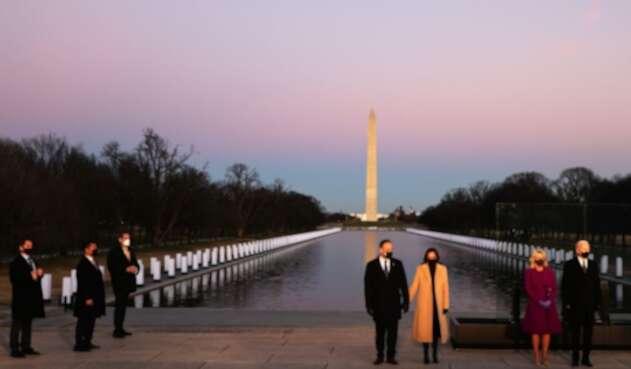 Joe Biden y Kamala Harris en homenaje a víctimas de la covid-19