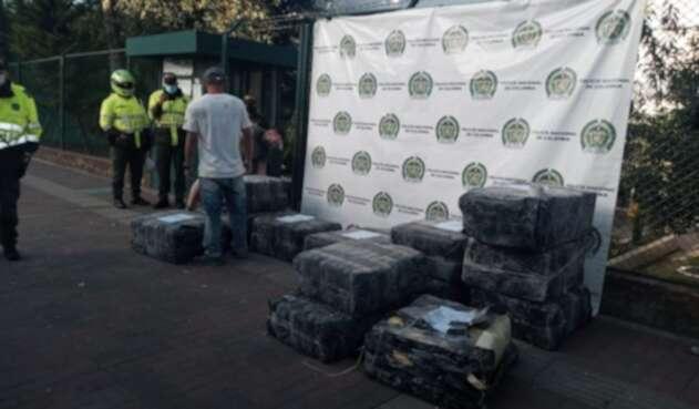 Una tonelada de marihuana fue decomisada en el sector de Suba