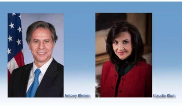 Secretario de Estado de EE.UU., Antony Blinken y Canciller de Colombia, Claudia Blum