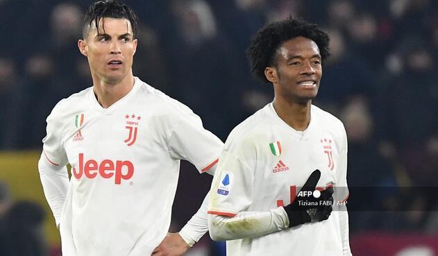 Cristiano Ronaldo y Juan Guillermo Cuadrado; Juventus