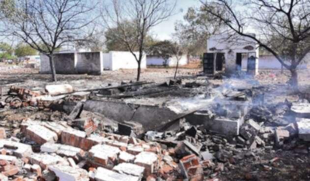 Explosión en India