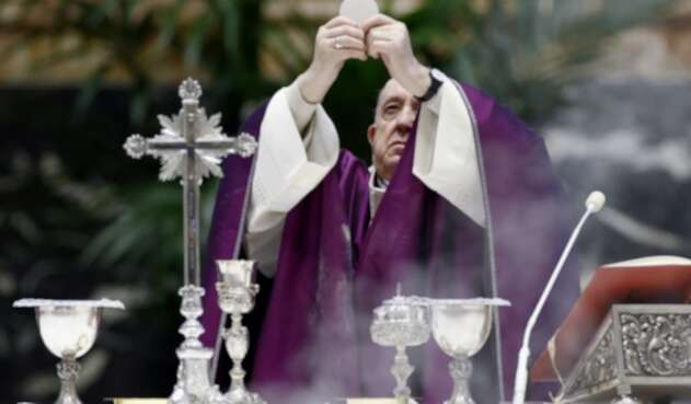 Papa Francisco en miércoles de ceniza en pandemia