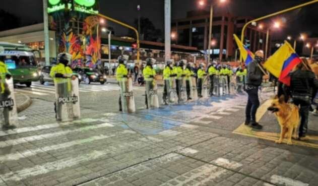 Manifestación de gastrobares en Bogotá