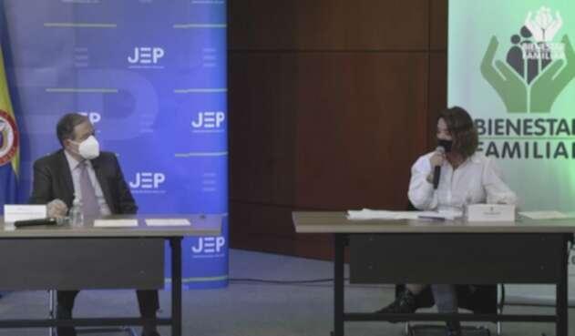Directora del ICBF y Presidente de la JEP