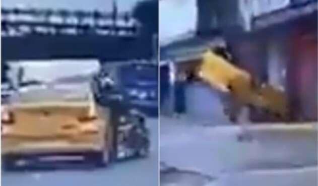 Taxista arrolla a motociclista