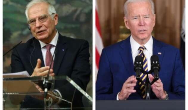 Josep Borrell y Joe Biden