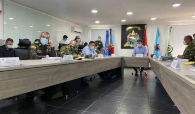 Consejo de seguridad de Tumaco, liderado por el ministro Diego Molano