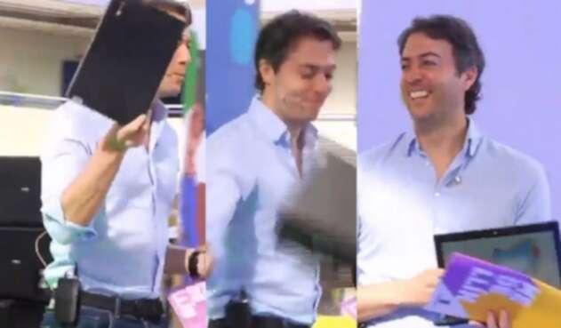 Daniel Quintero Calle daña pantalla de computador