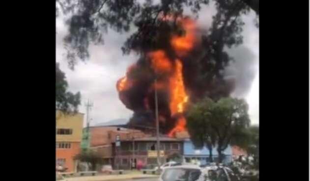Explosión barrio Quiroga