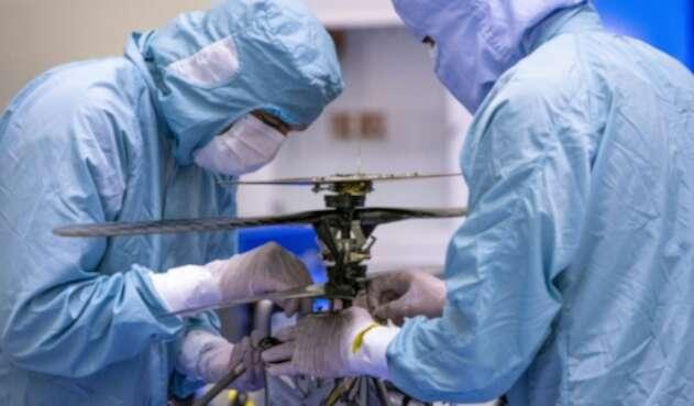 Helicópero Ingenuity de la NASA que volará en Marte
