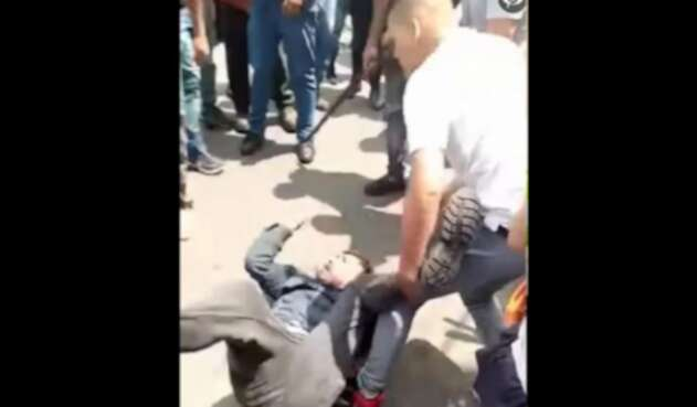 Ladrón sufrió golpiza en Bogotá