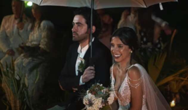 Matrimonio de Alejandro González con Manuela Cardona