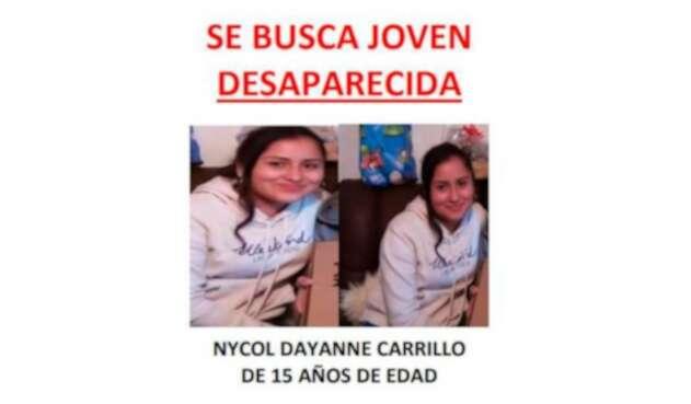 Menor desaparecida en Bogotá
