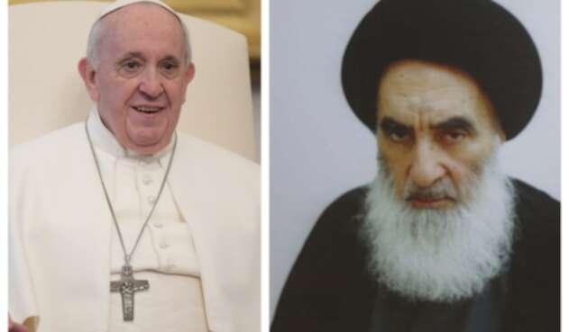Papa Francisco y el gran ayatolá Alí Sistani