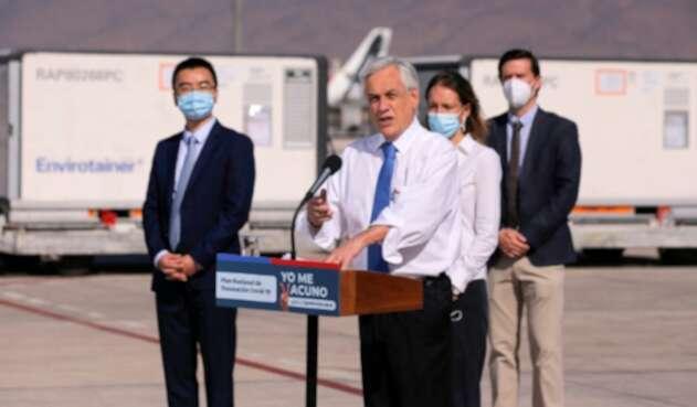 Sebastián Piñera, presidente de Chile ya se vacunó contra la covid-19