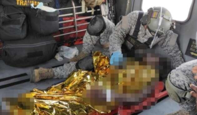 El menor sufrió graves afectaciones en sus piernas, tras pisar una mina antipersonal.
