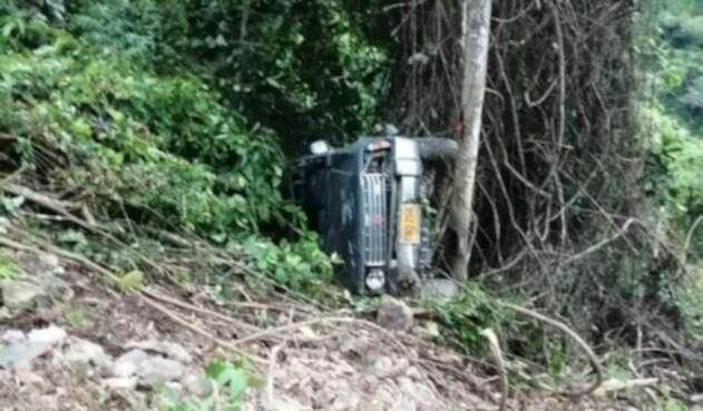 Así fue encontrado el vehículo de los desparecidos