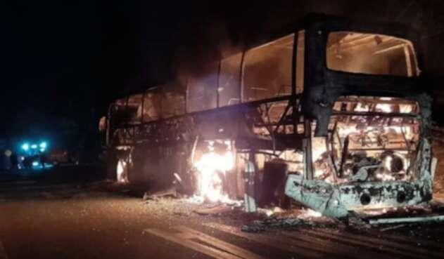 Incendio. bus, Casanare, Paz de Ariporo
