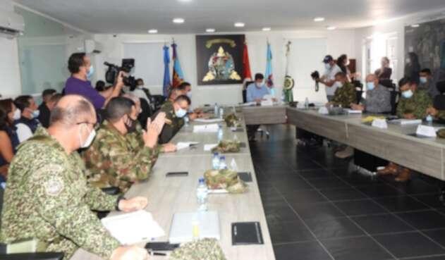 El Consejo de Seguridad estuvo presidido pro el Ministro Diego Molano