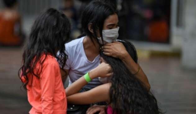 Migrantes venezolanos en Colombia.