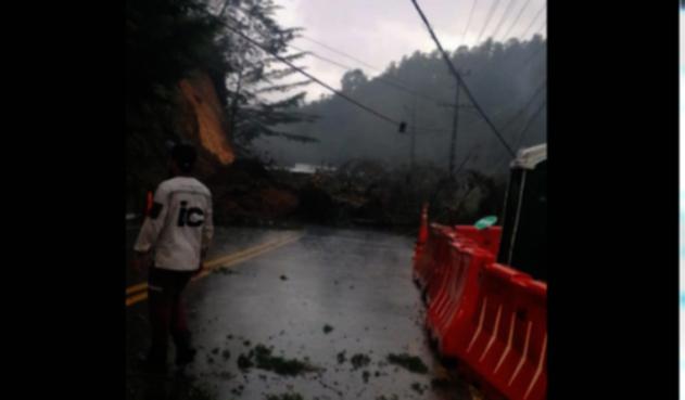Derrumbe en Antioquia.
