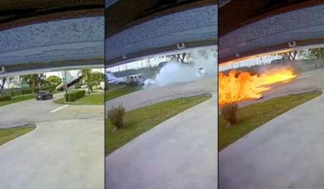Accidente camioneta y avioneta - Florida