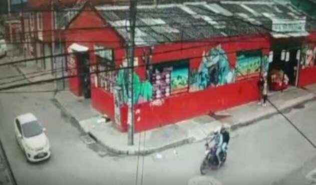 Accidente de motociclista en Bogotá