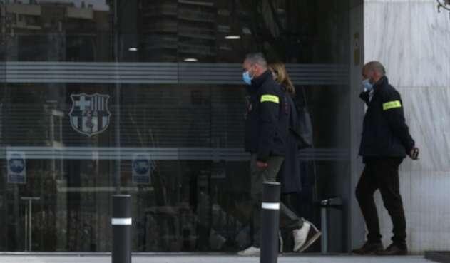 Registran oficinas del Barcelona FC