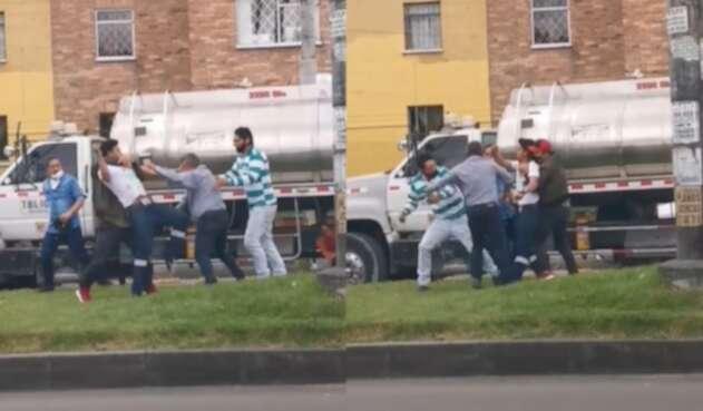 Pelea en Bogotá entre conductores en plena vía pública