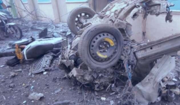 Carro bomba en Corinto, Cauca