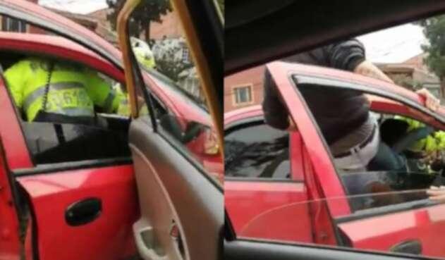Conductor casi mata a un policía para evitar 'pare' en Bogotá