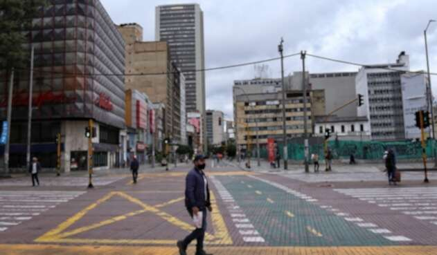 Así se veía Bogotá en medio de la cuarentena decretada por la pandemia por coronavirus.