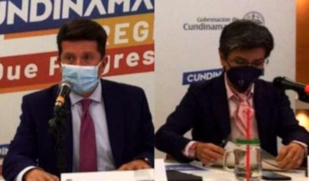 Diego Molano y Claudia López