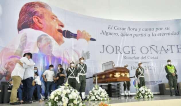 Funeral de Jorge Oñate en el Cesar