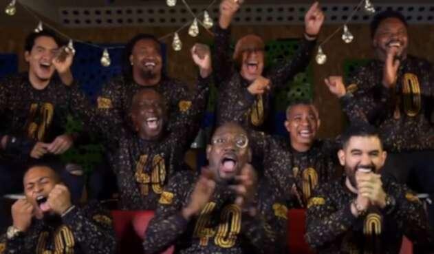 Grupo Niche al ganar el Grammy en 2021