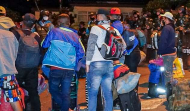 Migrantes venezolanos  Bucaramanga