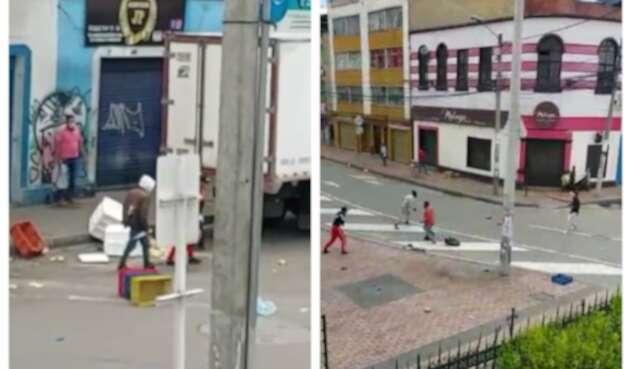 Pelea a machete en La Estanzuela, centro de Bogotá