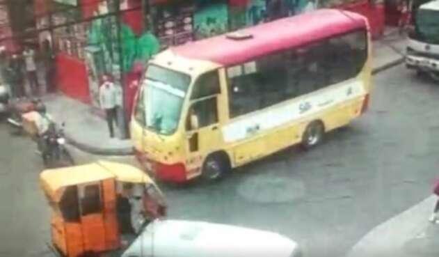 Pelea de conductores en Bogotá