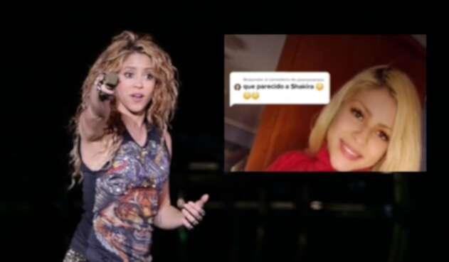 Shakira, la doble que triunfa en redes