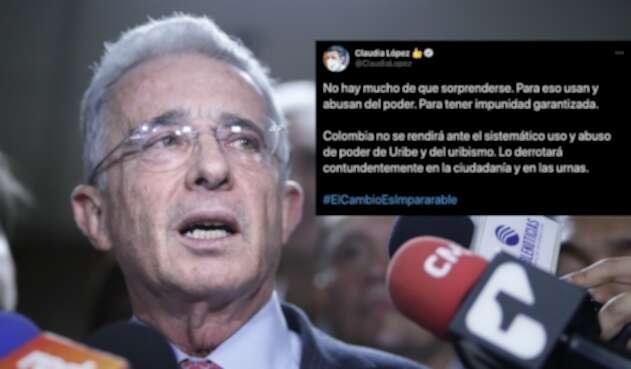 Trino de Claudia López contra Uribe y el uribismo