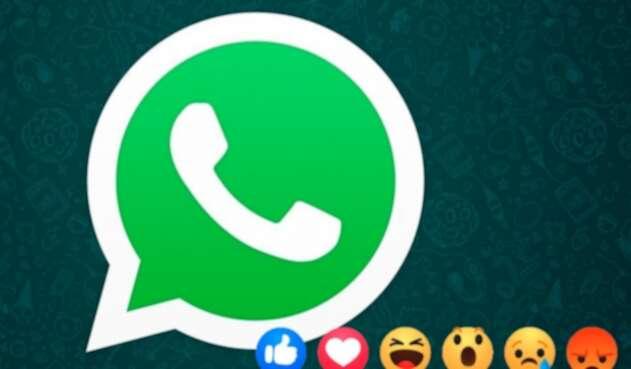 WhatsApp Reacciones de Facebook