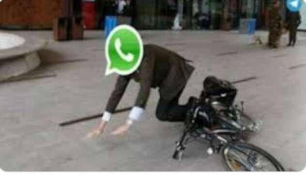 WhatsApp: memes de la caída mundial